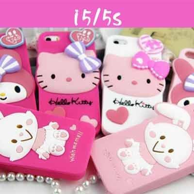 矽膠手機殼 iphone5 5S Hello kitty軟殼 ~白色