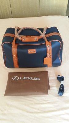 全新LEXUS旅行袋 深邃藍  可手提肩背
