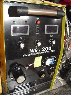 ㊣宇慶S舖㊣台灣精品 勇焊OEM MIG-200型 CO2 電焊機 氣體保護無焊渣