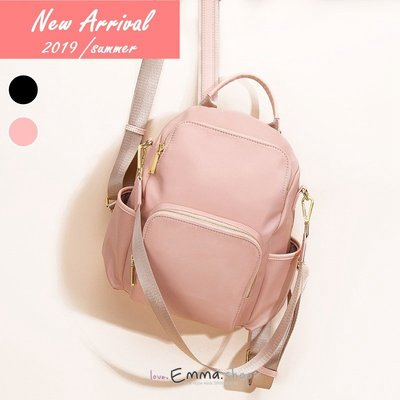 EmmaShop艾購物-初夏甜美風格防水尼龍防盜後背包