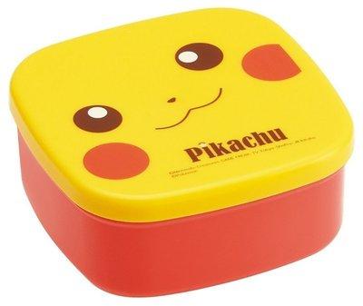 (預購)保證真品 日本空運代購 安心日本製 精靈寶可夢皮卡丘方型保鮮盒 3入一組價