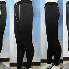 特價 台灣製造 男版  長版 緊身褲 內搭緊身褲 透氣 排汗  黑色/亮黃線FM50101 [迦勒=]