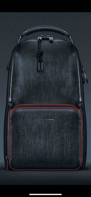 Dior homme 前衛時尚真皮單肩後背包(極稀有)