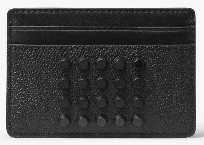 全新美國精品名牌 Michael Kors Men MK 黑色超酷年輕款名片夾,附原廠禮盒,低價起標無底價!本商品免運!