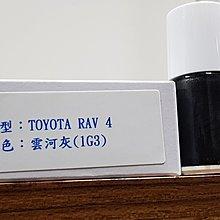 <名晟鈑烤>艾仕得(杜邦)Cromax 原廠配方點漆筆.補漆筆 TOYOTA RAV 4 顏色:雲河灰(1G3)