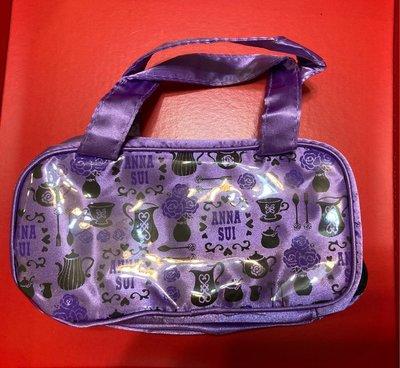 no34~出清~ 滿500免運 ~ANNA SUI 紫漾玩美化妝包 收納包 整理包18.5x9x5cm