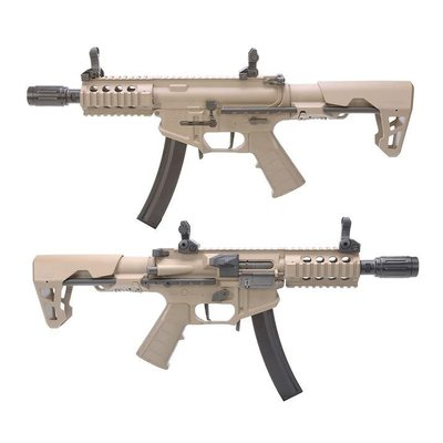 【AS】King Arms PDW 電動衝鋒槍 9mm SBR shorty 沙色-KA-AG-229-DE