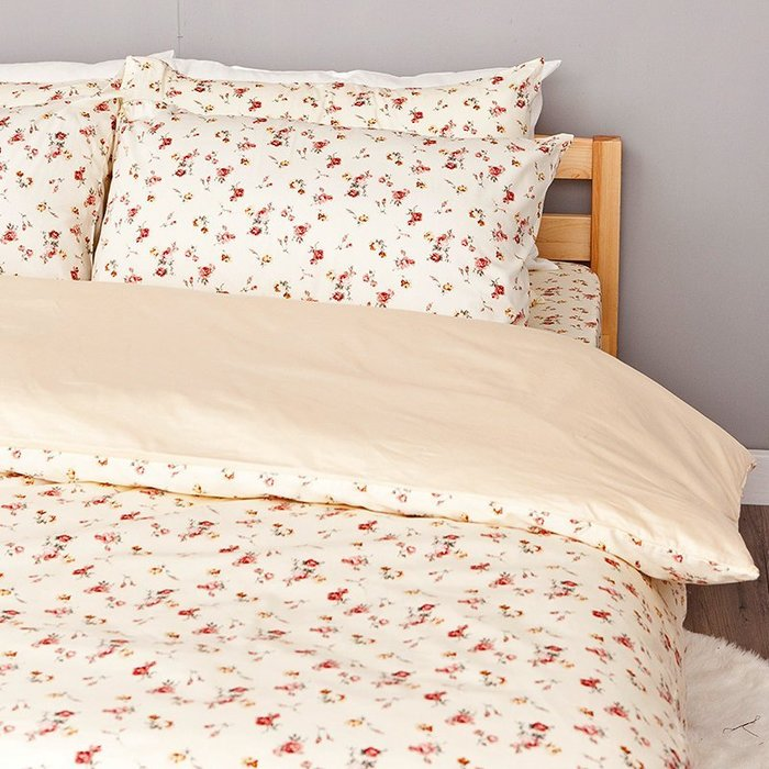 (預購)床包被套組 / 雙人【田園童話】含兩件枕套,100%精梳棉,戀家小舖,熱銷款 AAS212