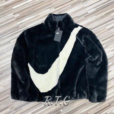 【RTG】NIKE NSW JACKET FUR 立領外套 黑色 大勾 毛絨 軟毛 皮草 女款 CU6559-010