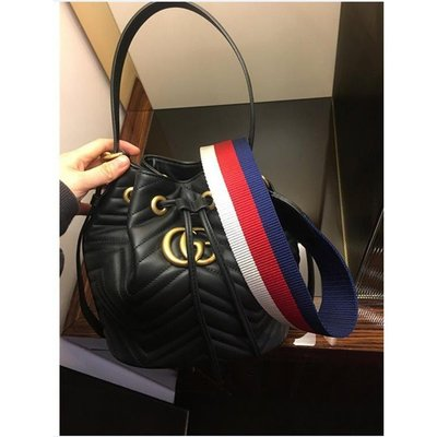 Gucci 水桶包 Marmont Quilted Leather Bucket 水桶包 4