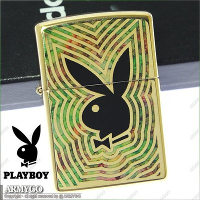 【ARMYGO】ZIPPO原廠打火機-Playboy 系列- NO.29252
