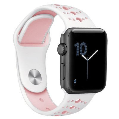 小胖 Apple Watch 1234小清新運動雙色蘋果手錶錶帶 38 40 42 44mm 防水透氣散熱回環替換腕帶