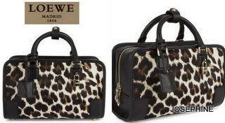 喬瑟芬【LOEWE】現貨~2013秋冬 限量 豹紋馬毛 AMAZONA 23 *352.99.H71 CROSS BODY斜背/手提包