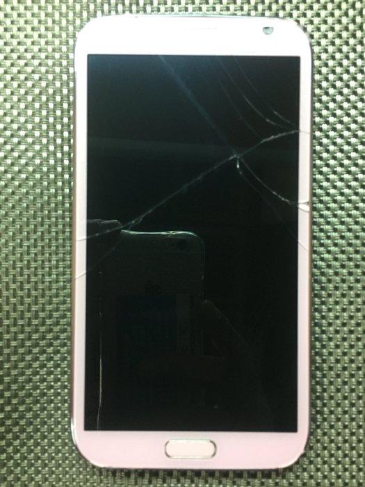 故障機SAMSUNG Galaxy Note2 N7100 四核心  5.5吋粉色