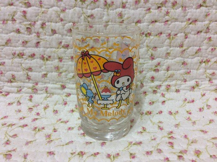 Sanrio My Melody 美樂蒂海邊戲水玻璃杯《2000年商品》特價出清