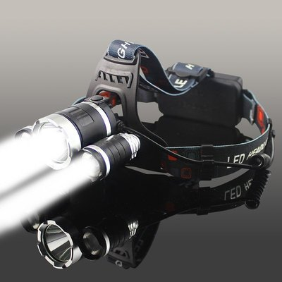 【安安3C】LED五頭燈強光充電式感應...