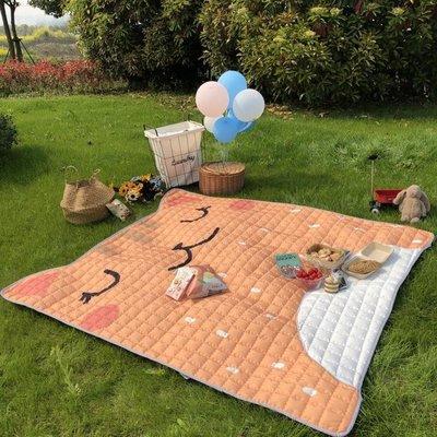 超大號卡通戶外野餐墊防潮墊防水露營墊可...
