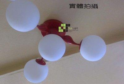 【SUN LIGHT 日光燈坊】天鵝頭玻璃吸頂燈3頭 ,另三角微笑甜甜圈PH松果IQ