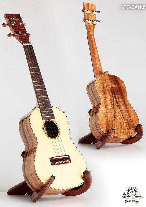 【名人樂器烏克麗麗】 Pukanala Ukulele PT-SAW2 全單板 雲衫木 台灣製造頂級手工琴