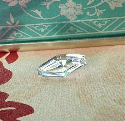 揚邵一品(附國際證)0.92克拉白色藍寶石~超美 特殊切割 天然無燒 火光超白燦 機會難得 請勿錯過優良品項