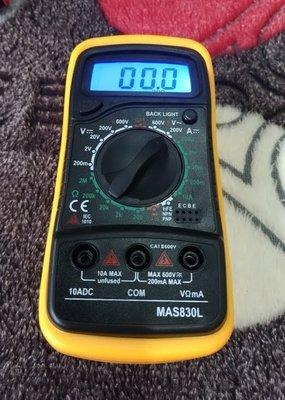 【AQ】專業萬用電表 MAS830L 三用電表 冷光 背光LED數字顯示 蜂鳴器 PA-012D
