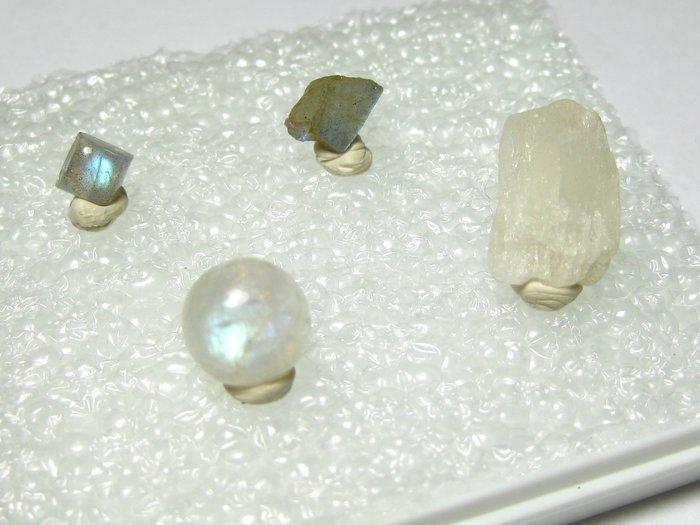 【Texture & Nobleness 低調與奢華】寶石標本&原礦 @月光石 拉長石  (訂購區