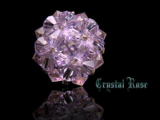 ※水晶玫瑰※ SWAROVSKI 水晶戒指~丁香紫(HAND36)