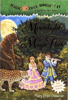*小貝比的家*MTH#41 :MOONLIGHT ONTHE MAGIC FLUTE/神奇樹屋平裝書 /7~12歲
