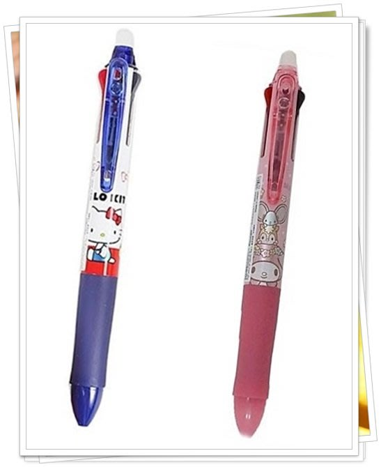 日本製 KT 527673 美樂蒂 527680 通販 3色原子筆 可擦式 分售