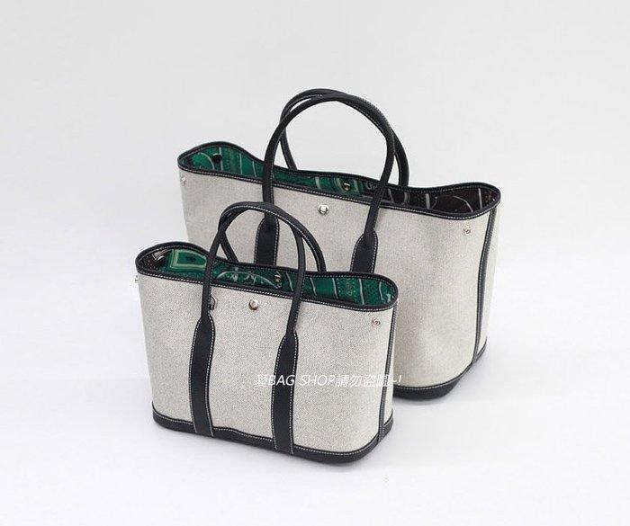 愛BAG SHOP 韓國WHOSBAG 精品風格牛皮拼接帆布絲綢內裡花園包 二個尺寸30CM 36CM 共7色 預購