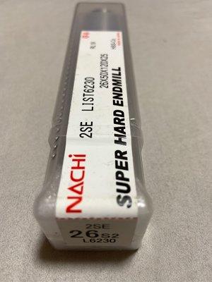 Nachi二刃端銑刀 List 6230 2刃型端銑刀 φ26。Nachi   銑床CNC 全家店到店取貨 60