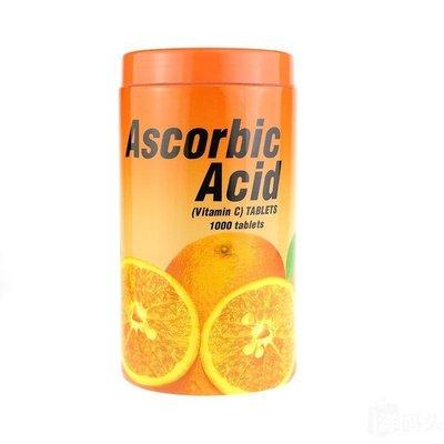 泰國 VC 維他命C 1000粒 Ascorbic Acid 橘子口味