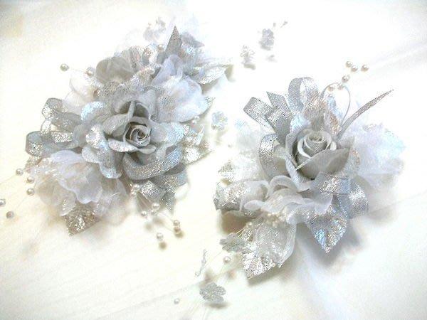 B. & W. world *美美的花飾***R13148***銀漾玫瑰花飾***髮飾、胸花創意造型***得意風采