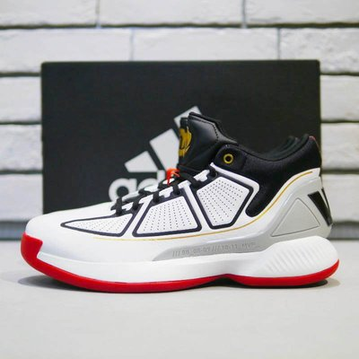 【免運實拍】adidas ROSE10代羅斯十年白色籃球鞋 愛迪達新款減震防滑運動鞋 飆風玫瑰 透氣男鞋 F36778