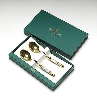 溜溜現貨日本Wedgwood & Minton咖啡勺叉明頓 Haddon 哈頓系列 鍍金銀