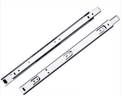 450mm 18 抽中 可拆 2節滑軌  抽屜滑軌 鋼珠滑軌