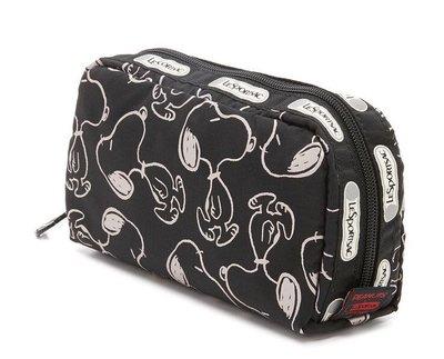 現貨 Lesportsac x snoopy P711 史努比6511 化妝包 收納包 經典款 限量