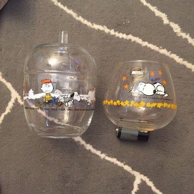 1958、1965、1966年Snoopy玻璃6件