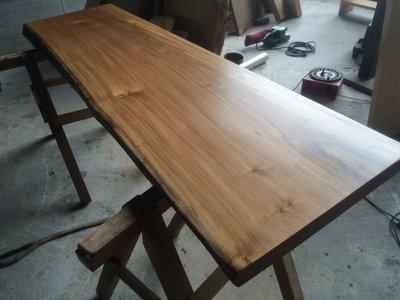 柚木實木書桌