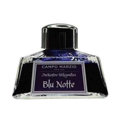 【上品名筆工藝坊】義大利 Campo Marzio(藍黑色 Blu Notte)大容量 80ml 鋼筆墨水 , 共10色