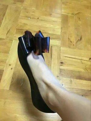 ╭☆包媽子店☆巴西正品 Melissa 女款蝴蝶結內增高果凍鞋