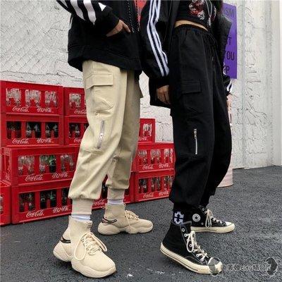 工裝褲 春女裝BF風寬鬆工裝束腳褲高腰哈倫褲燈籠褲休閒褲學生 -全