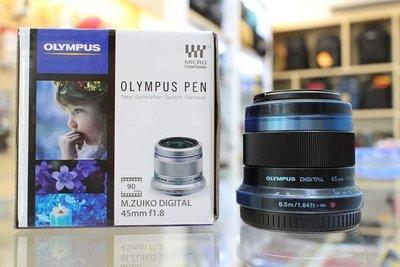 【日產旗艦】Olympus M.ZUIKO 45mm F1.8 平輸 銀黑 EM10 EM5 EM1 EPL8 EPL7