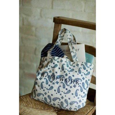 日本雜誌リンネル附錄簡約圖騰手提袋 購物袋 單肩包