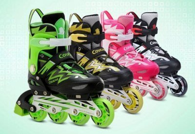 【易發生活館】正品美洲獅835溜冰鞋成人全套裝可調 直排輪滑鞋旱冰鞋 滑冰鞋男女