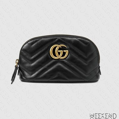 【WEEKEND】 GUCCI GG Marmont Cosmetic Case 化妝包 黑色 625544