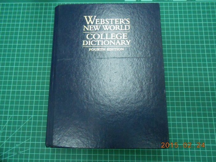 《WEBSTER'S NEW WORLD COLLEGE DICTIONARY》八成新 Fourth Edition