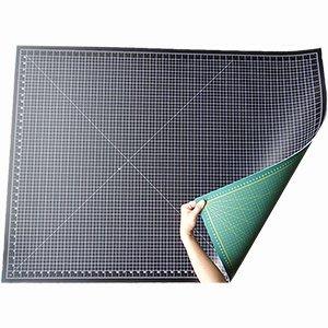 【傑美屋‧縫紉之家】雙色切割墊專業切割墊、裁布墊、裁墊#90*120cm黑色+綠色#CM90120-2E