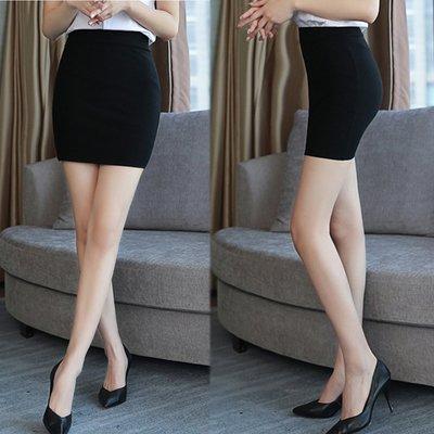 韓國MM=  新款彈力高腰修身一步裙上班包臀裙半身裙女夏鬆緊腰黑色職業短裙  =搭連身裙洋裝衛衣襯衫毛衣圍巾帽子