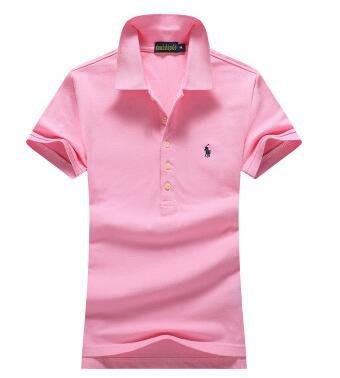 2018新款帥士保羅新款女士夏季短袖Polo衫小馬標純色休閑純棉修身T恤上衣